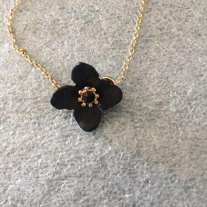 Simplistic Rachel Roy Gold & Black Flower Bracelet